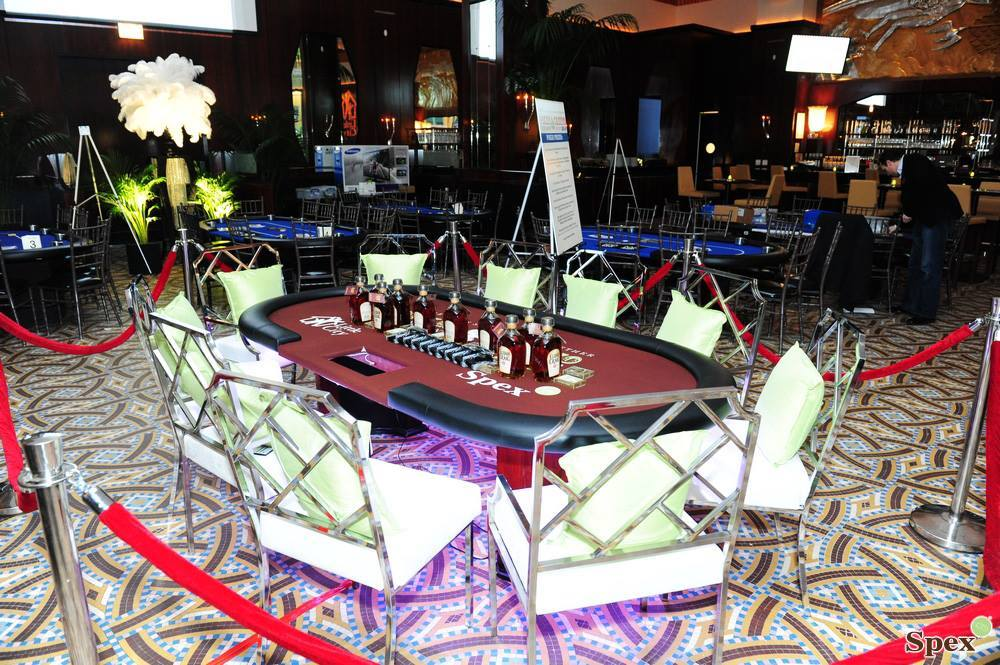 led lighting and casino party tables and equipment